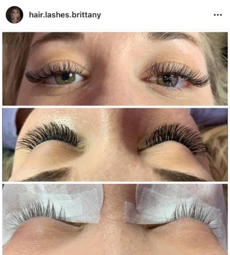Volume Full Set of Lash Extensions by Brittany!