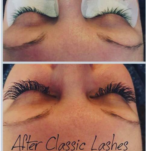 Classic Lash Extensions Before and After